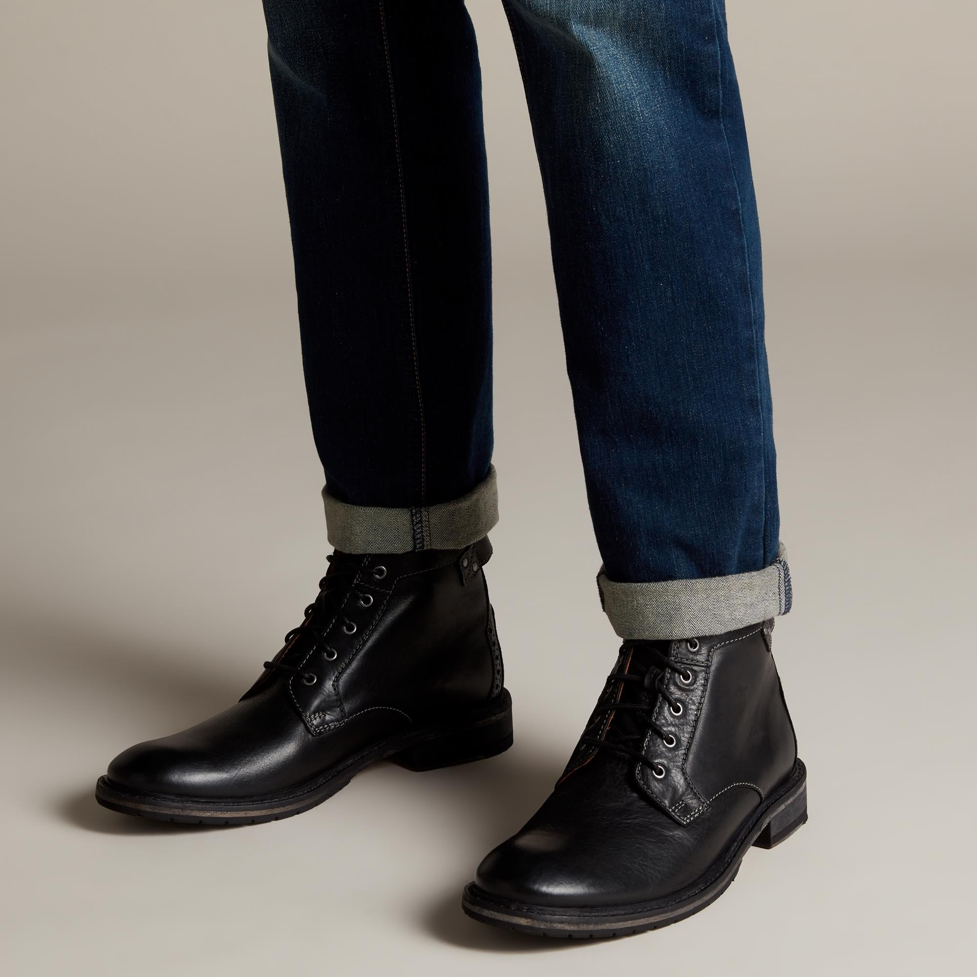 CLARKDALE BUD BLK LEATHER