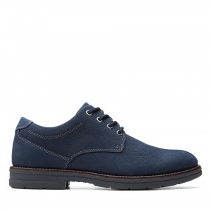 BANNING PLAIN NAVY TUMBLED NUBUCK