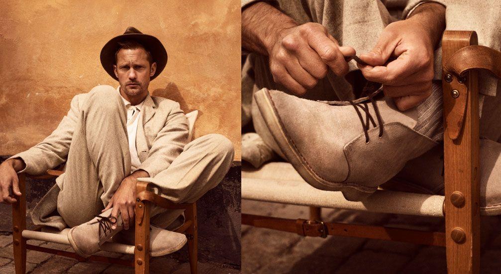 Alexander Skarsgård wearing Desert boots
