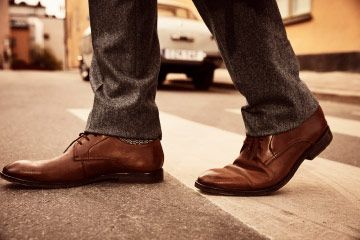 Close view of Ronnie walk in British tan leather