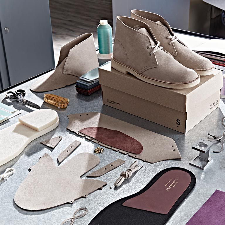Components that make up Clarks Desert Boots